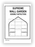 Wall Garden Instructions