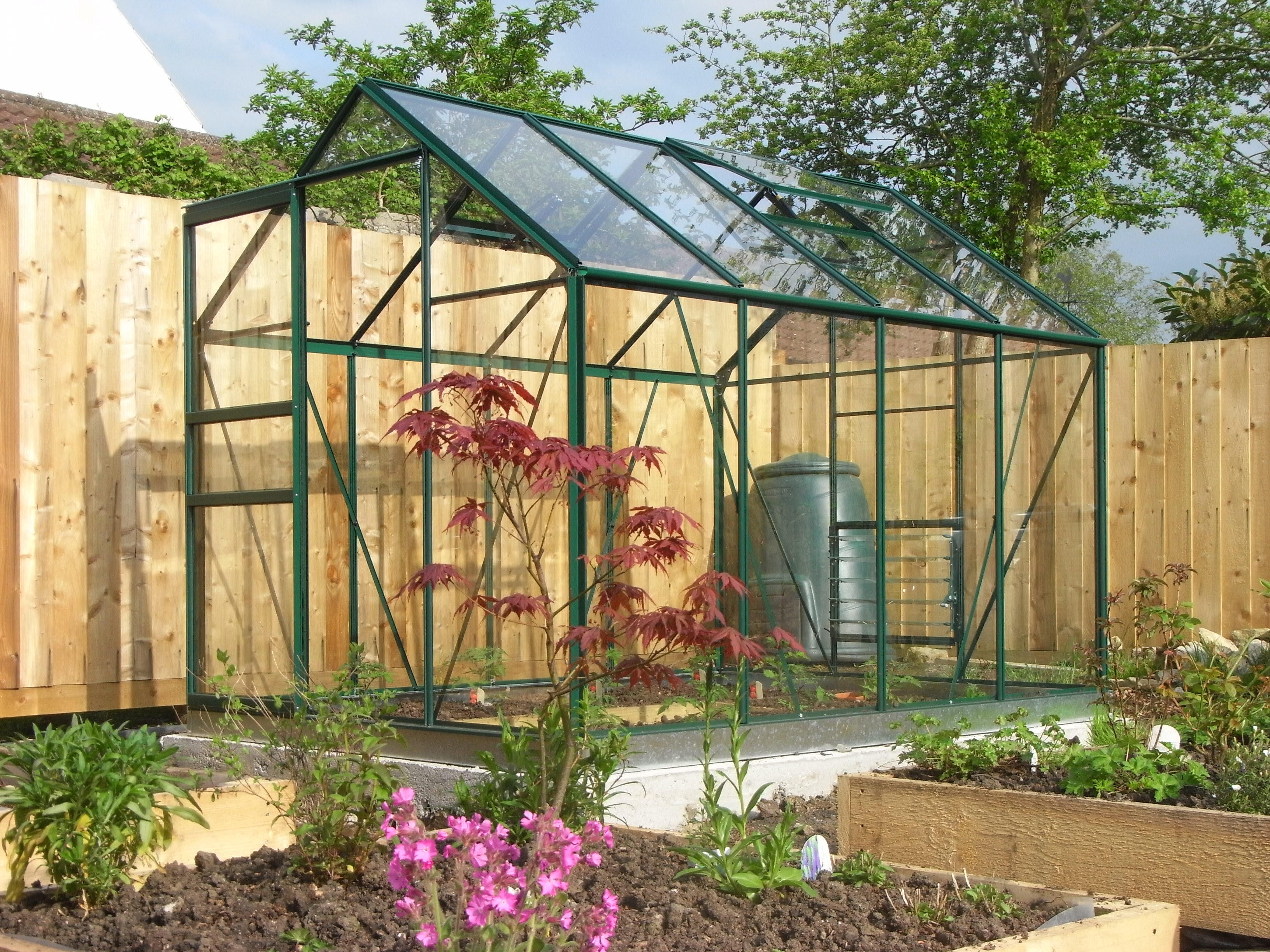 simplicity classic green greenhouse starter package 6ft3 wide 1918mm x 8ft3 long 2538mm