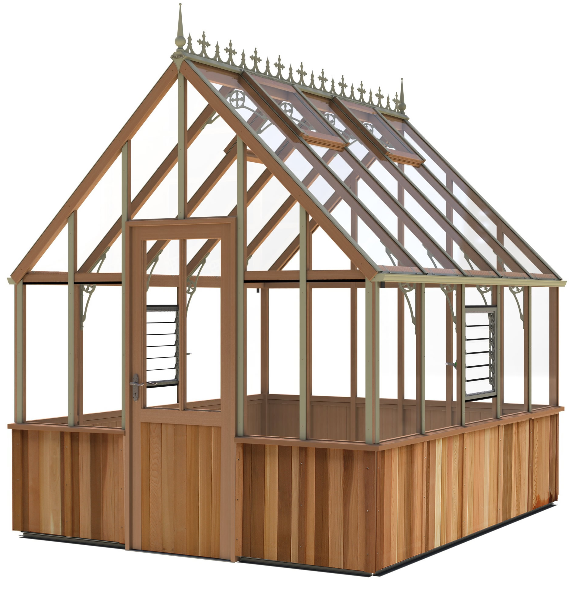 Alton Cheltenham Victorian Cedar Wood Greenhouse 8ft Wide