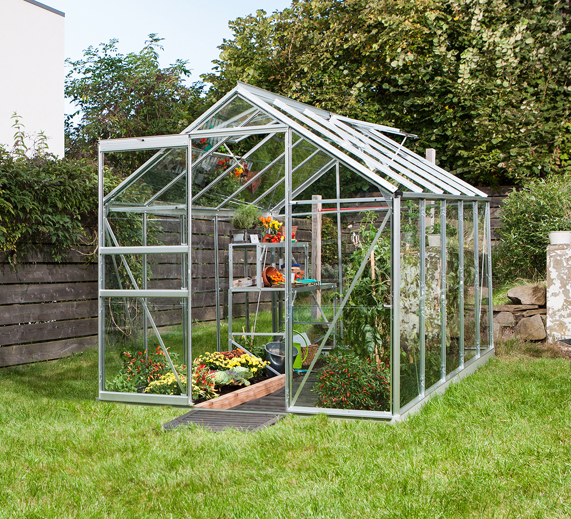 Apollo Silver 6x4 Greenhouse Horticultural Glass