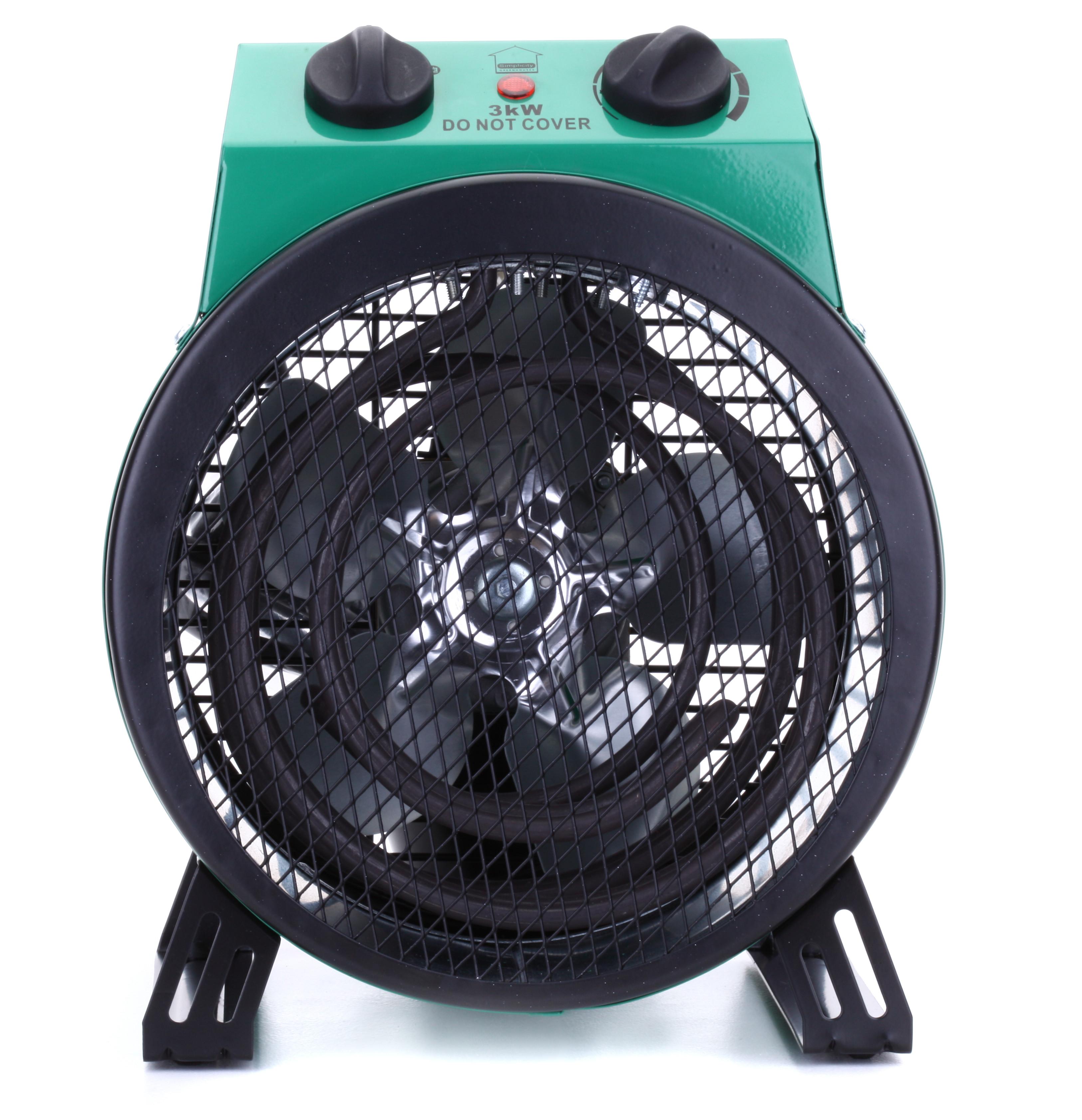 simplicity 3kw greenhouse fan heater. Black Bedroom Furniture Sets. Home Design Ideas