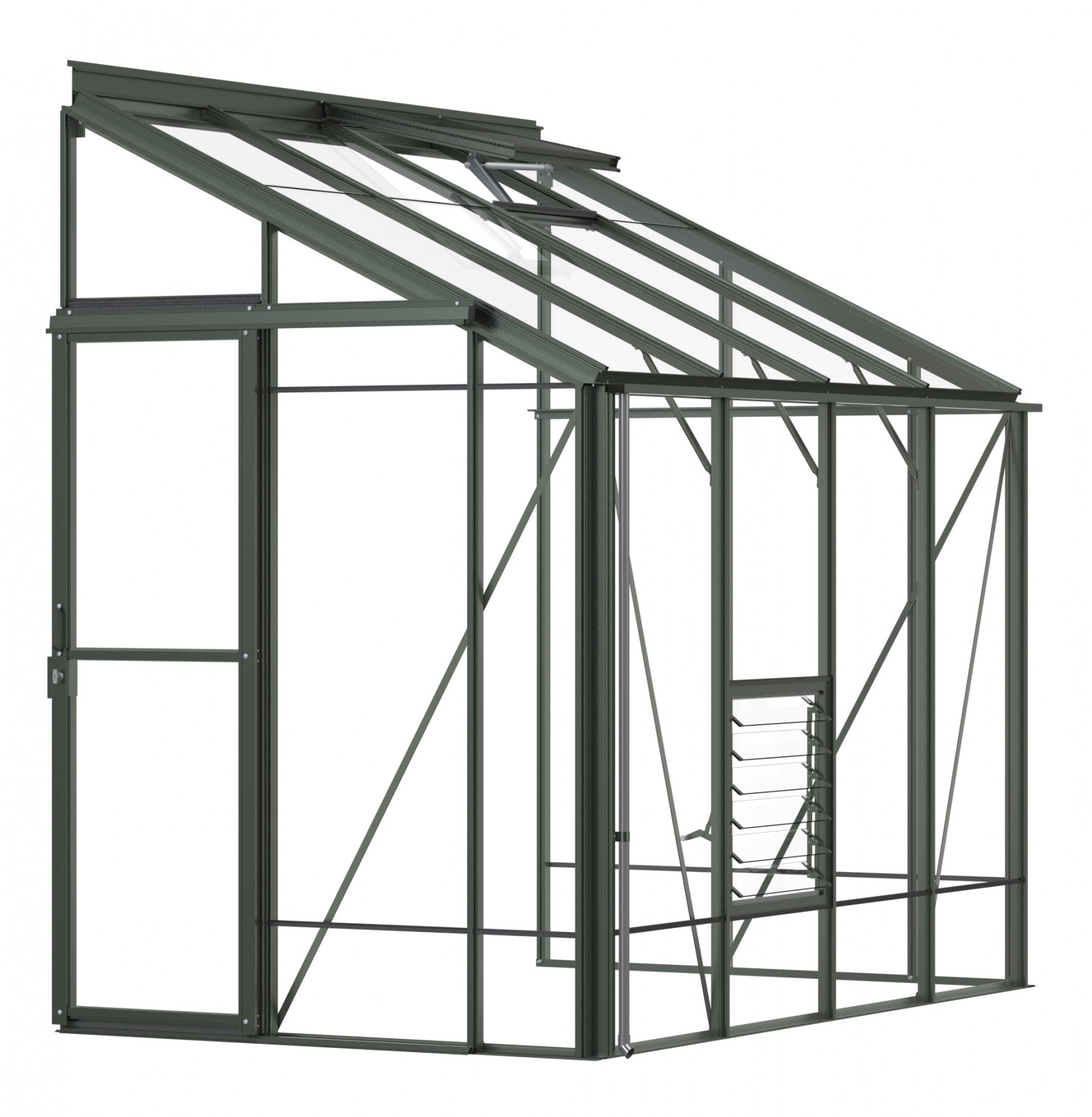 Lean-To 5ft4 x 8ft8 Old Cottage Green