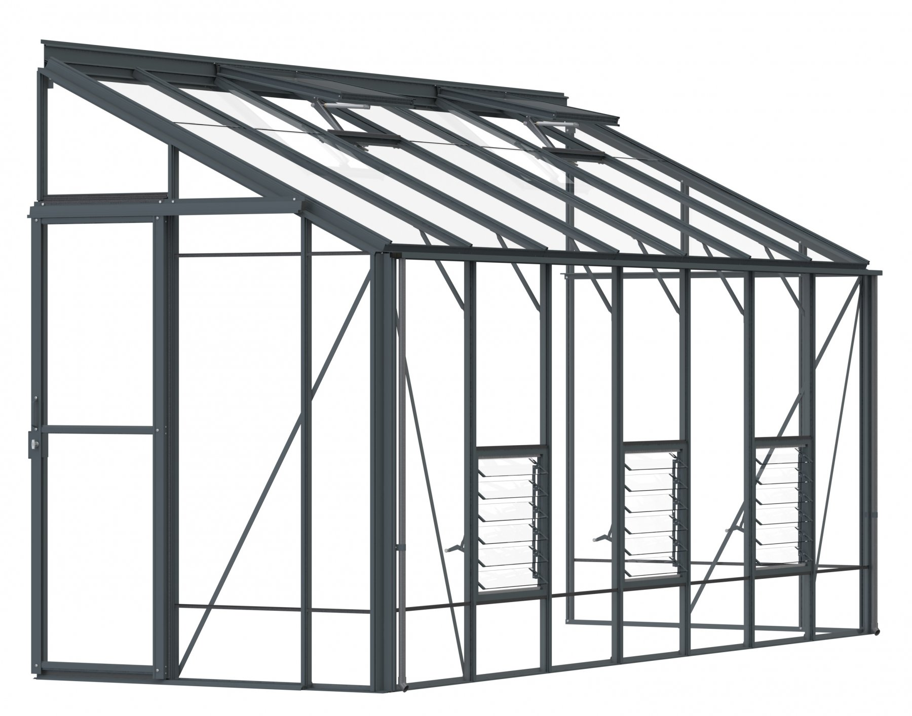Lean-To 5ft4 x 14ft9 Anthracite