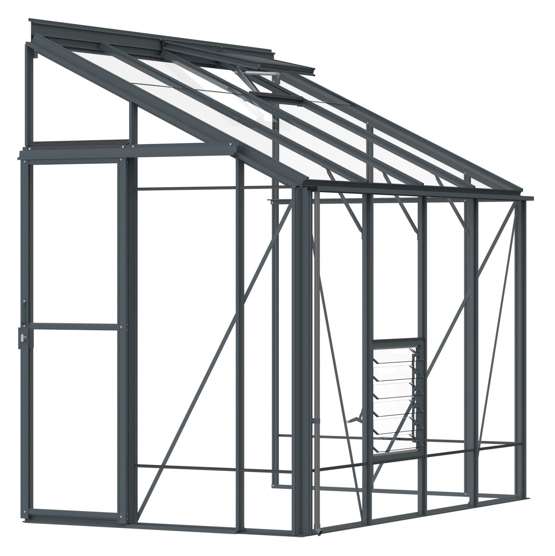 Lean-To 5ft4 x 8ft8 Anthracite