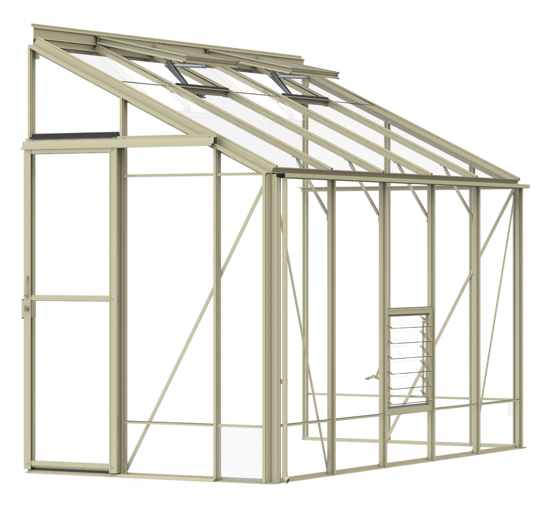 Lean-To 5ft4 x 10ft8 Ivory