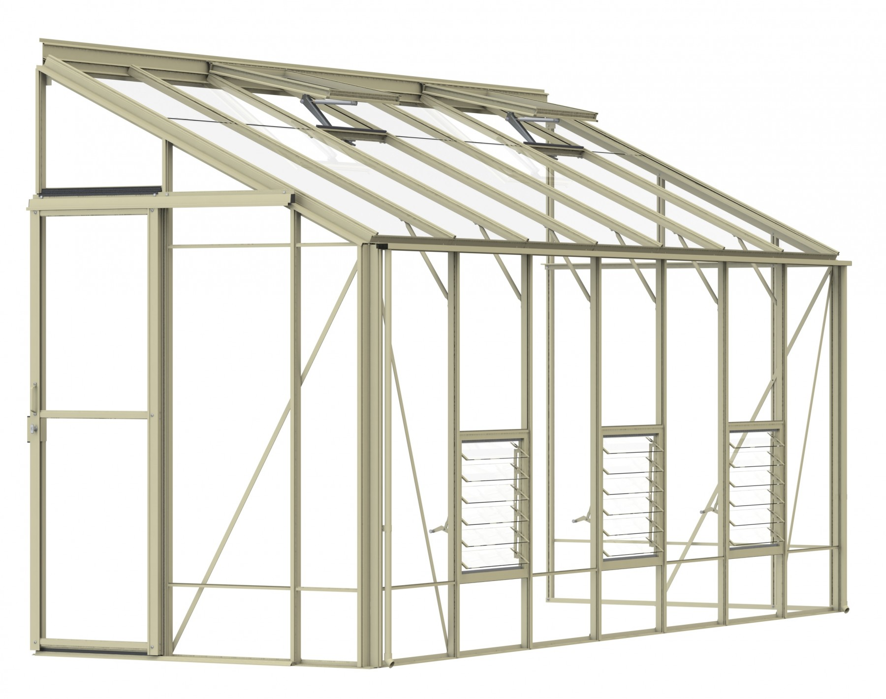 Lean-To 5ft4 x 14ft9 Ivory
