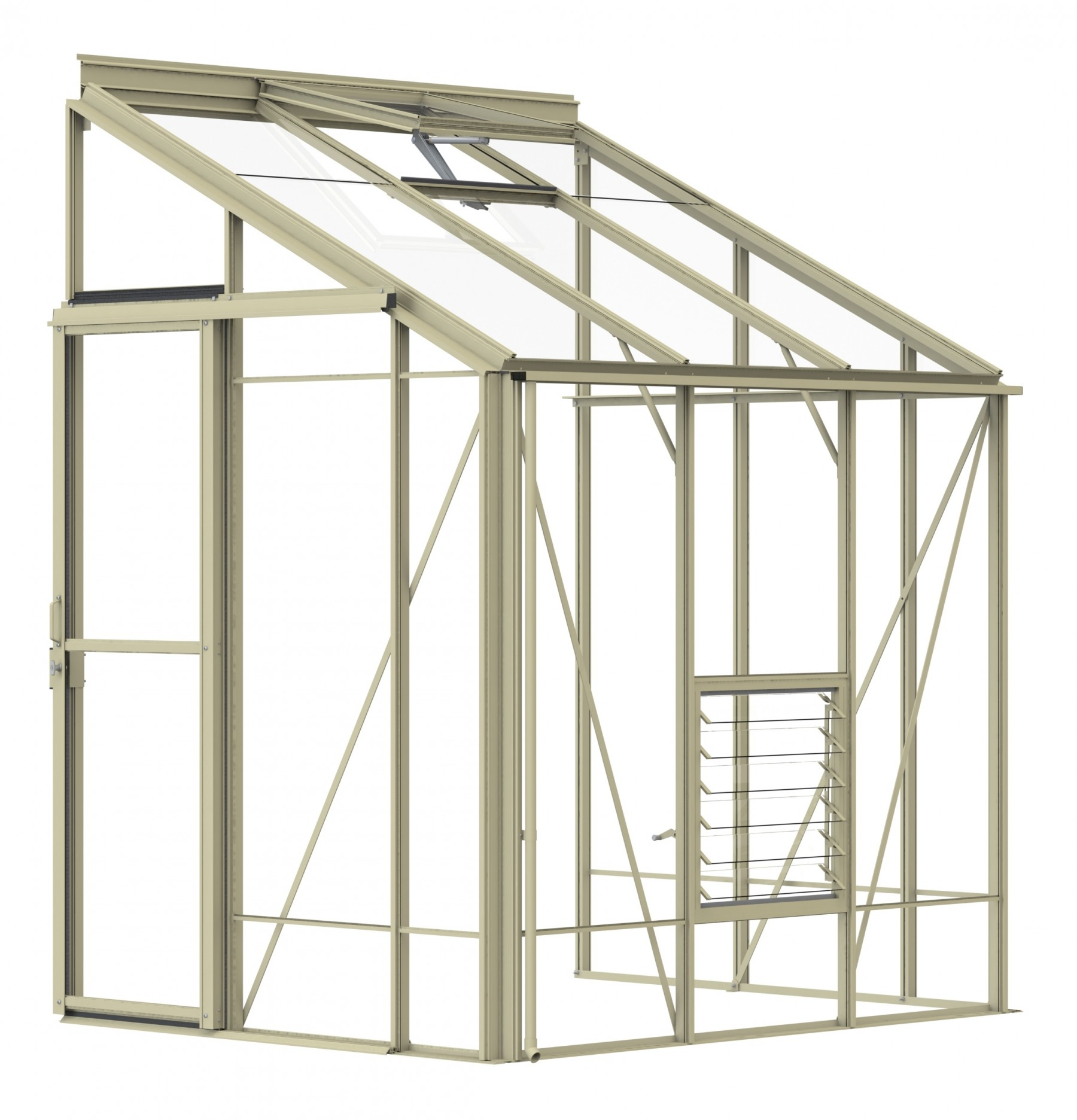 Lean-To 5ft4 x 6ft7 Ivory