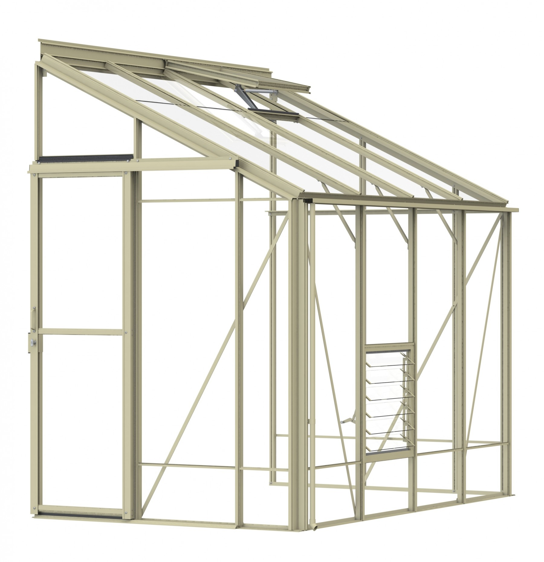 Lean-To 5ft4 x 8ft8 Ivory