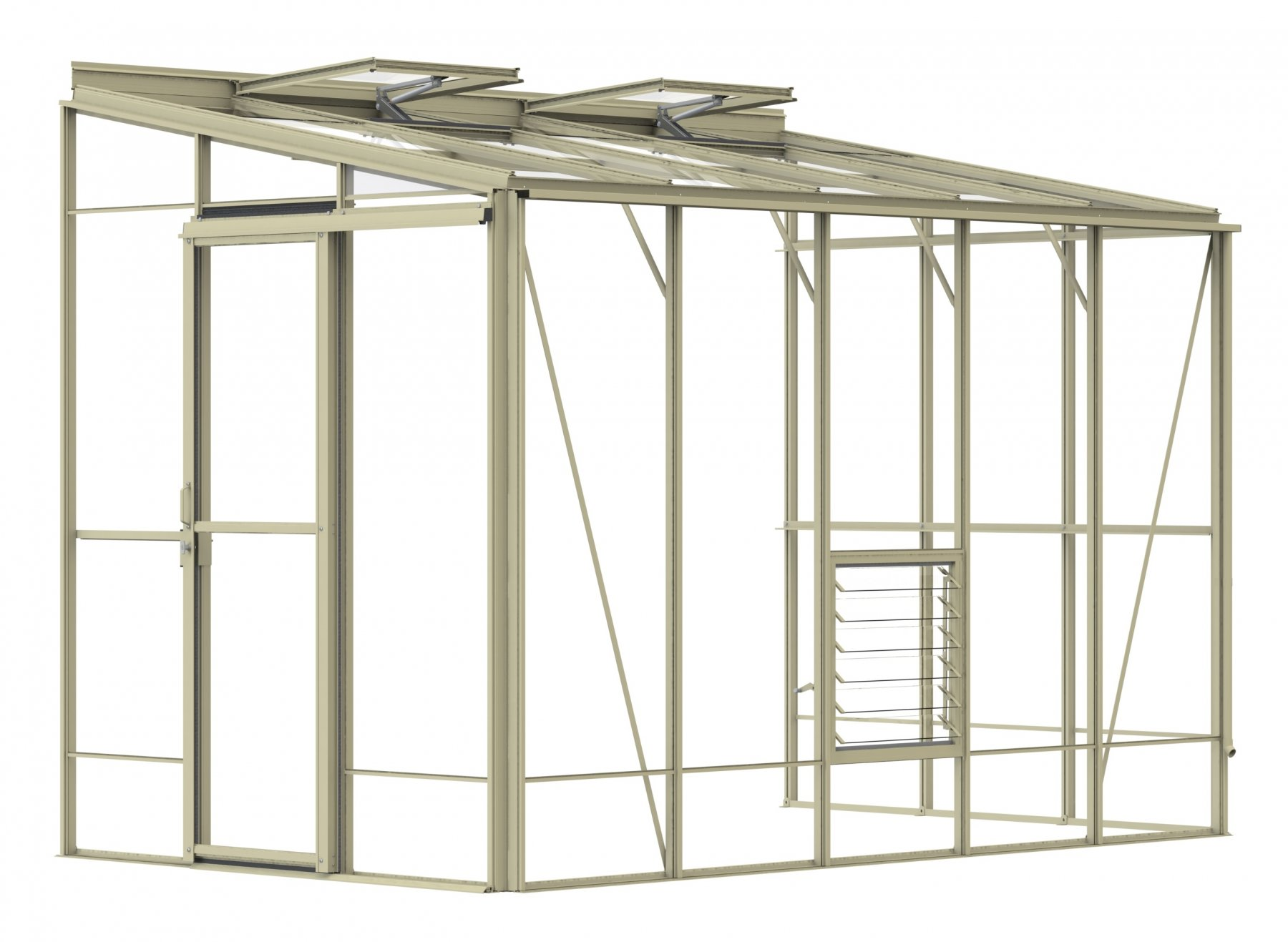 Lean-To 6ft5 x 10ft8 Ivory