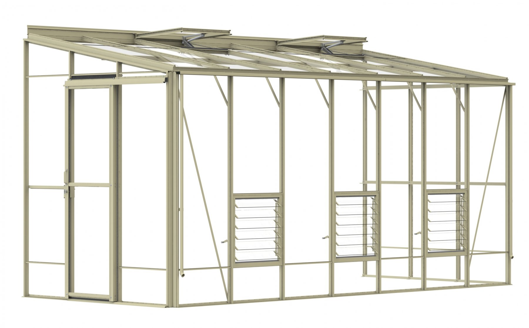 Lean-To 6ft5 x 16ft9 Ivory