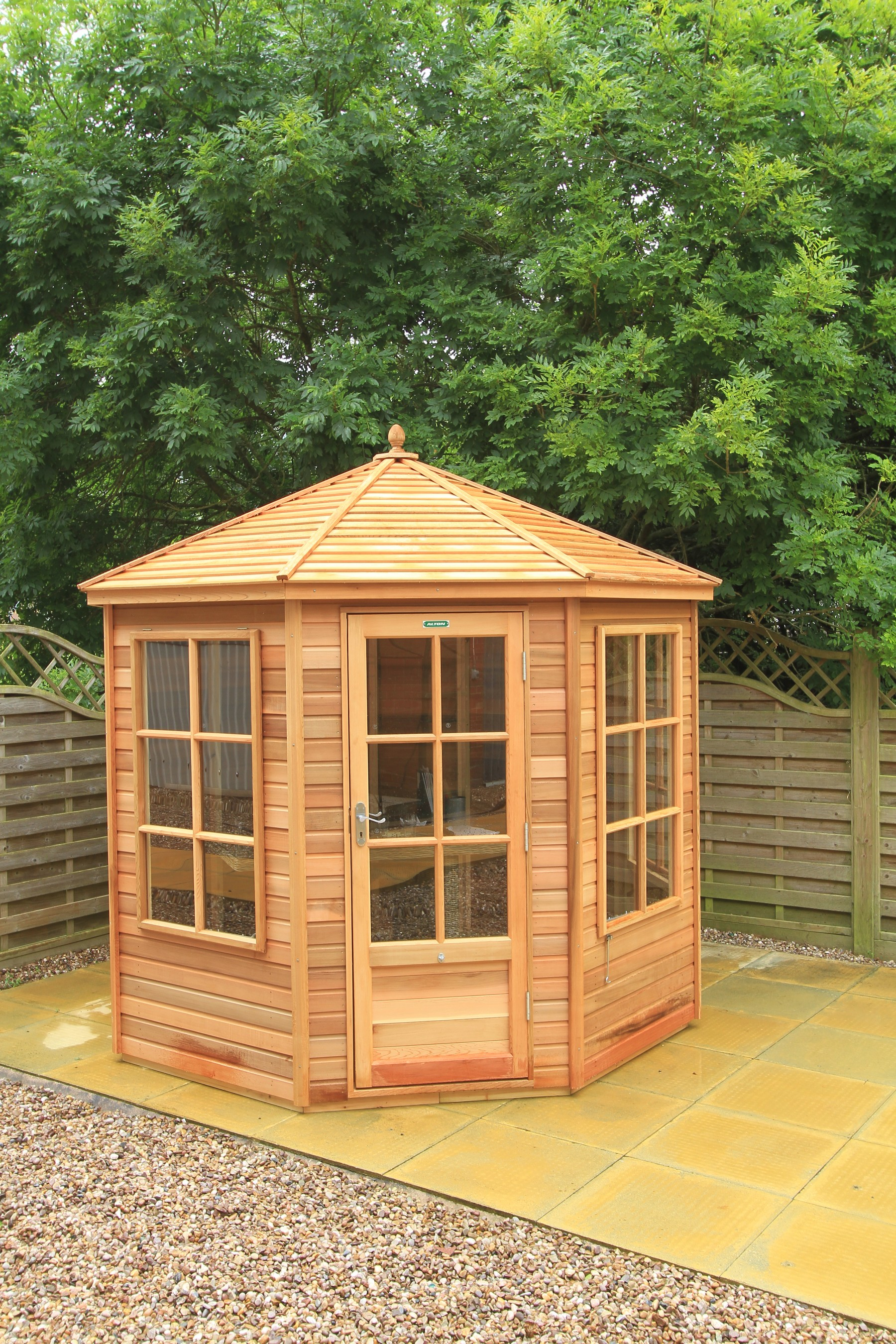 customergallerypopup cedar photo s a gable red x shown sheds deck customer shed with open ramada