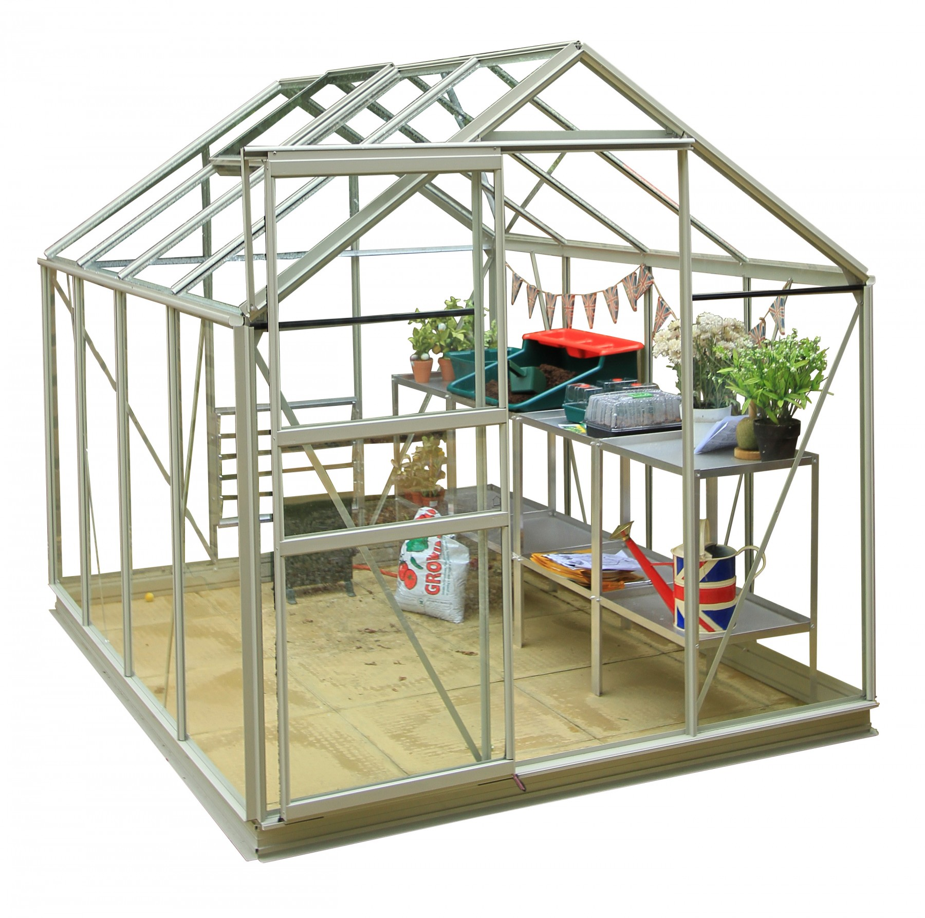 simplicity classic pastel sage greenhouse starter package 6ft3 wide 1918mm x 8ft3 long 2538mm
