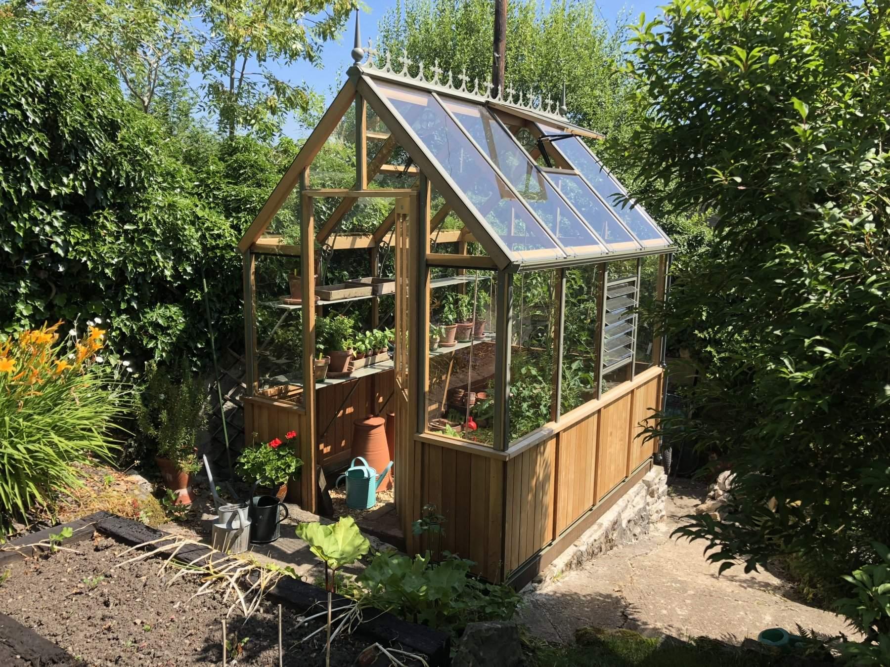 Alton Denston Evolution Victorian Cedar Wood Greenhouse 6ft Wide 8ft Long Backyard greenhouse brown county
