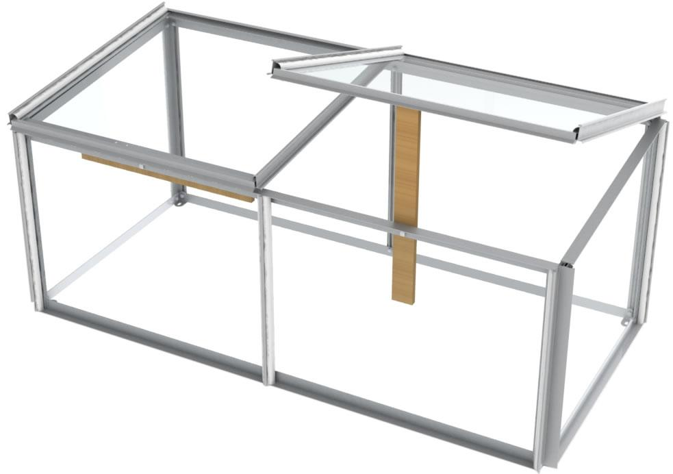 Simplicity Cold Frame 4ft x 2ft Plain Aluminium