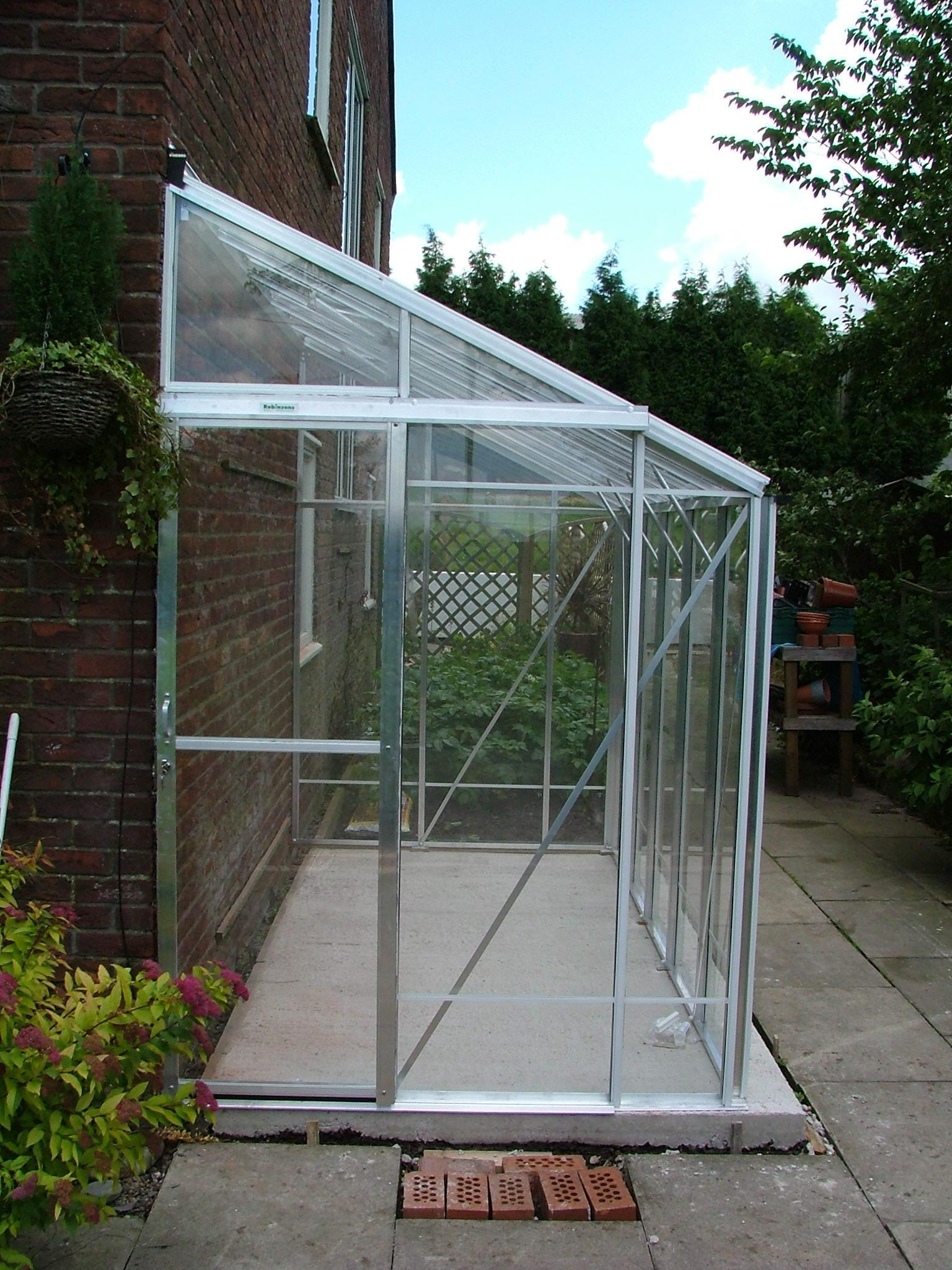Lean To 5ft4 X 8ft8 Mill Greenhouse