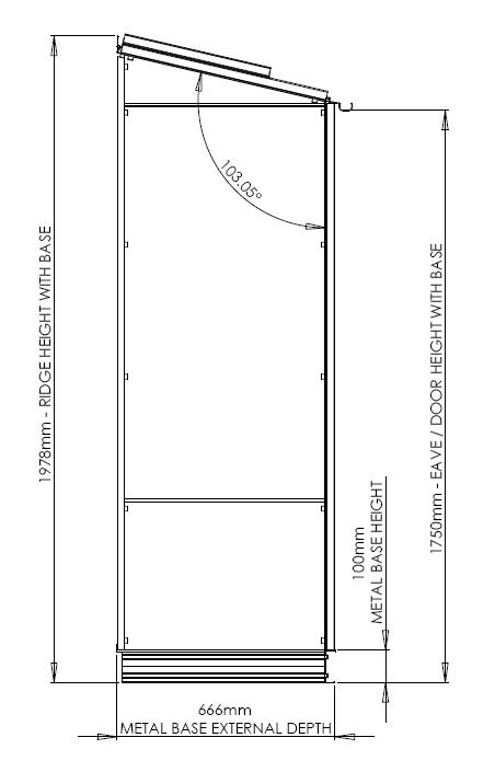 gable end plan for a mini leanto