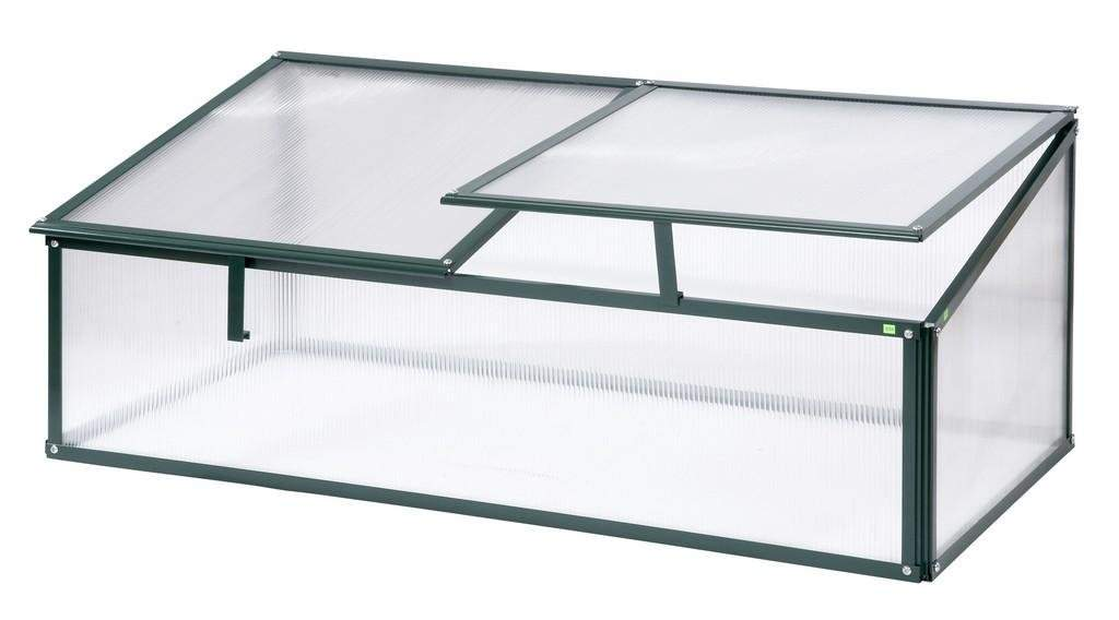Simplicity Single sided polycarbonate cold frame **Old cottage green**