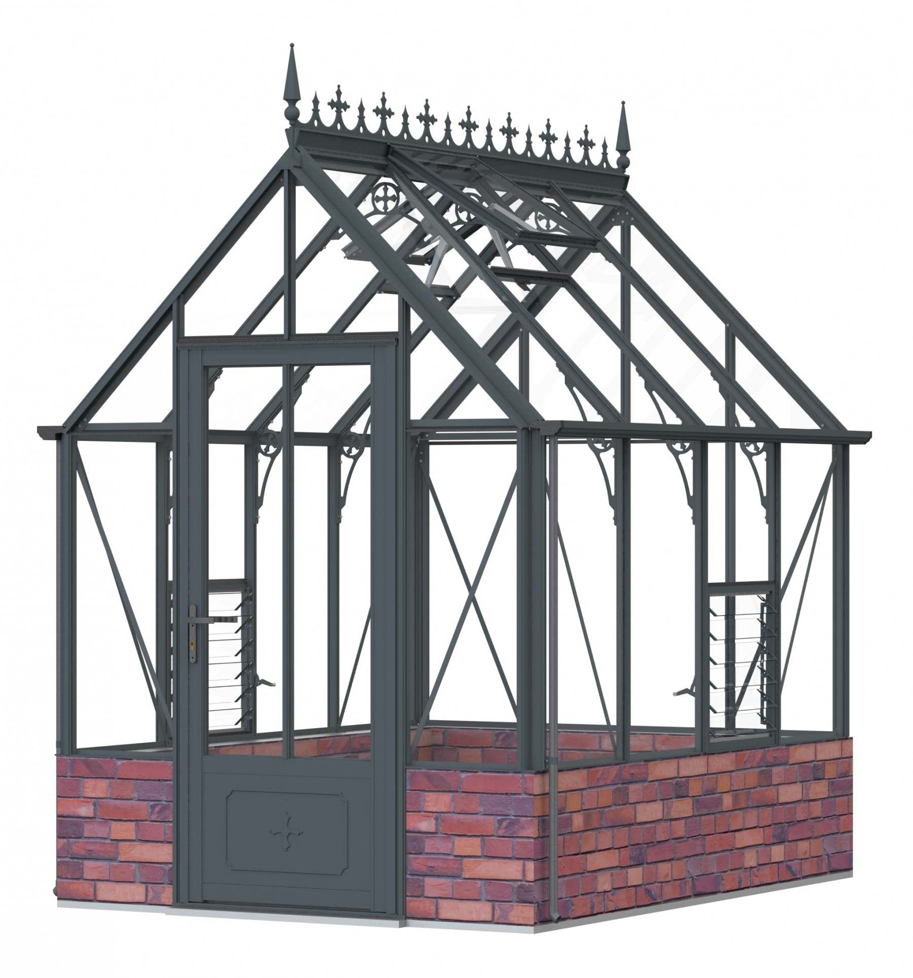 Robinsons Rugby dwarf wall Anthracite 6ft x 8ft