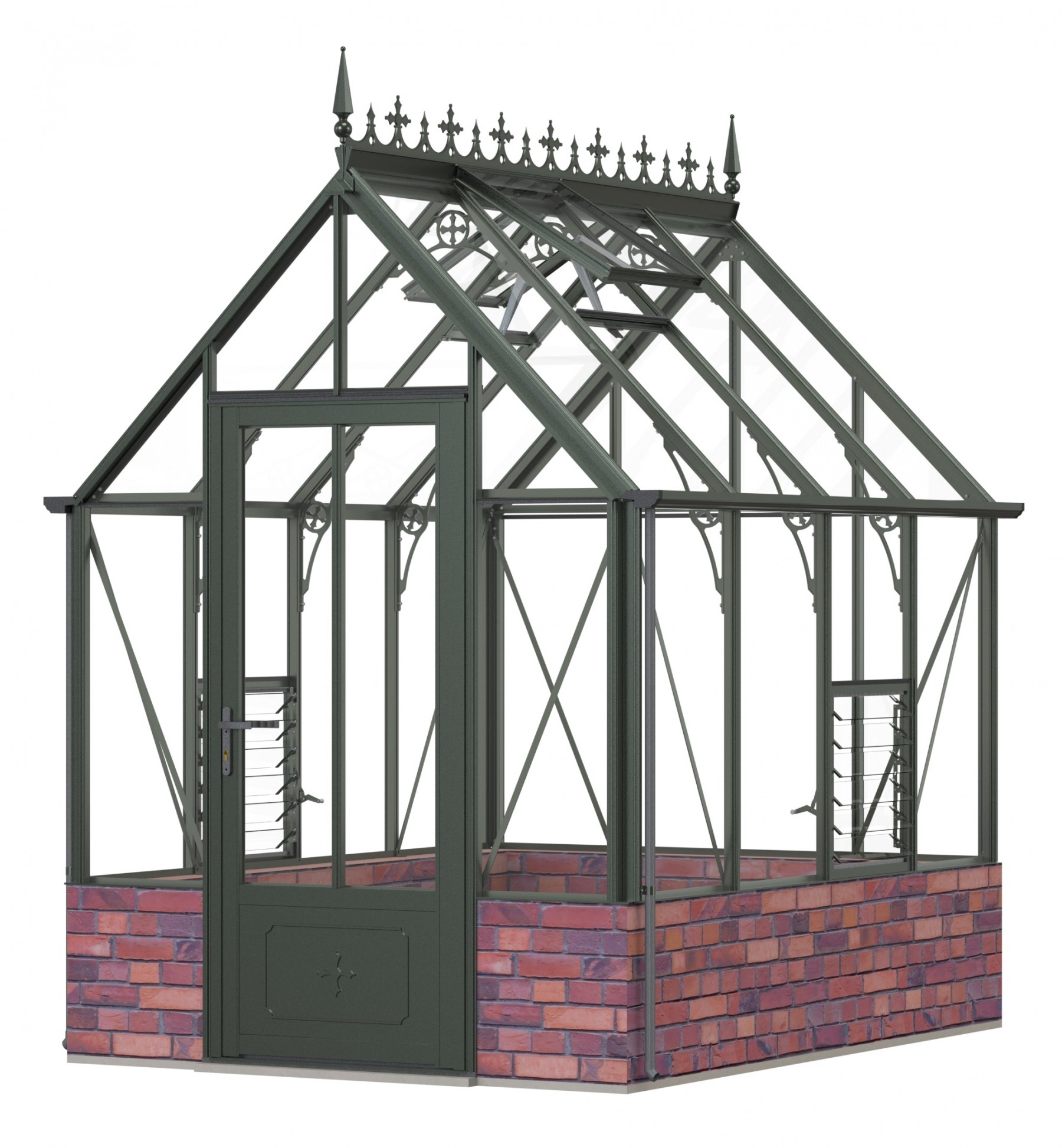Robinsons Rugby dwarf wall Old Cottage Green 6ft x 8ft