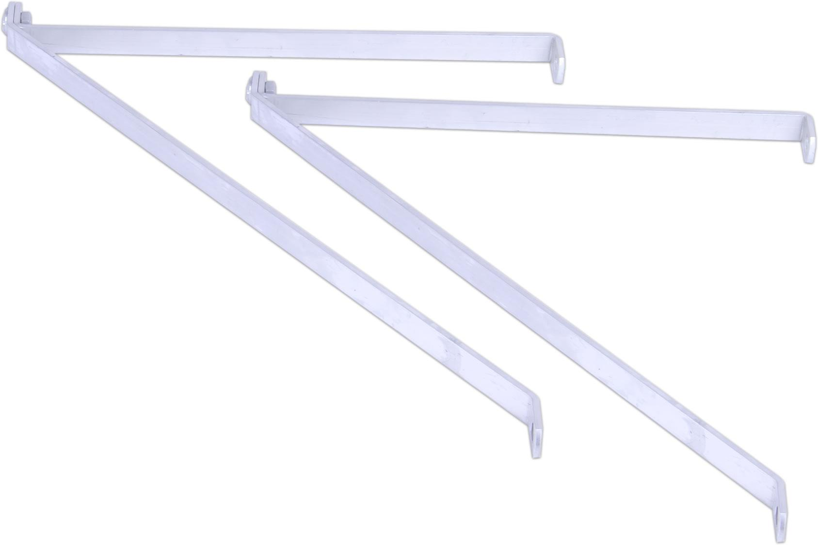 simplicity shelf brackets pair plain aluminium