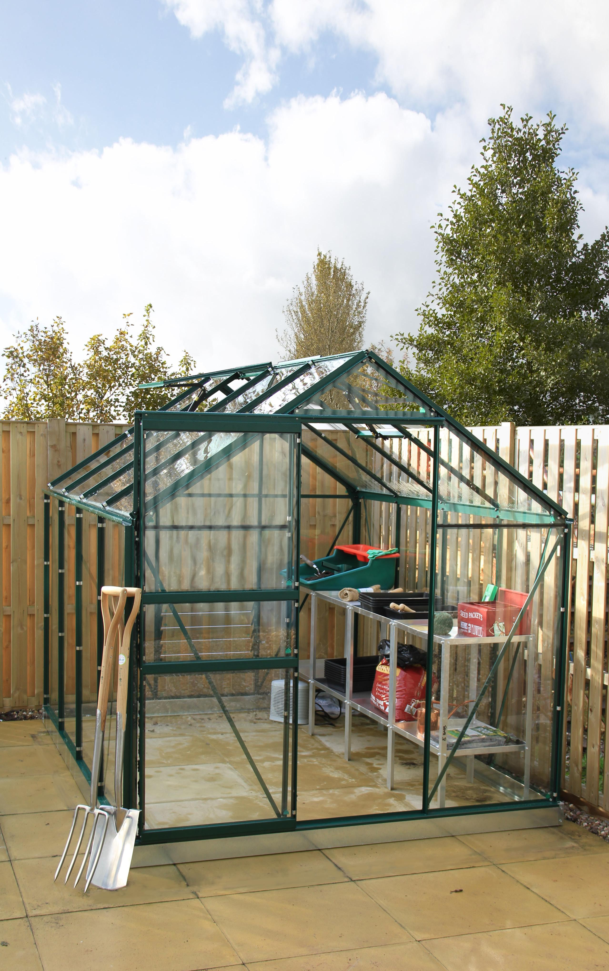 simplicity classic green greenhouse 6ft3 wide 1920mm x 8ft3 long 2538mm