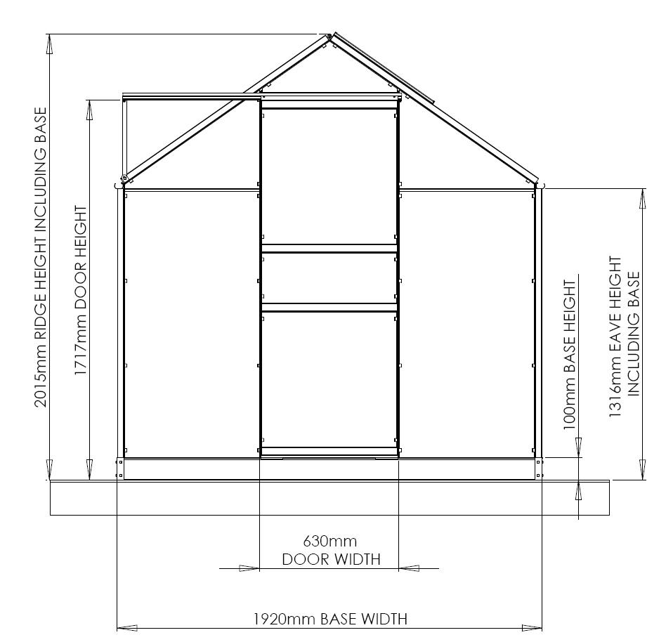 gable end plan of a classic