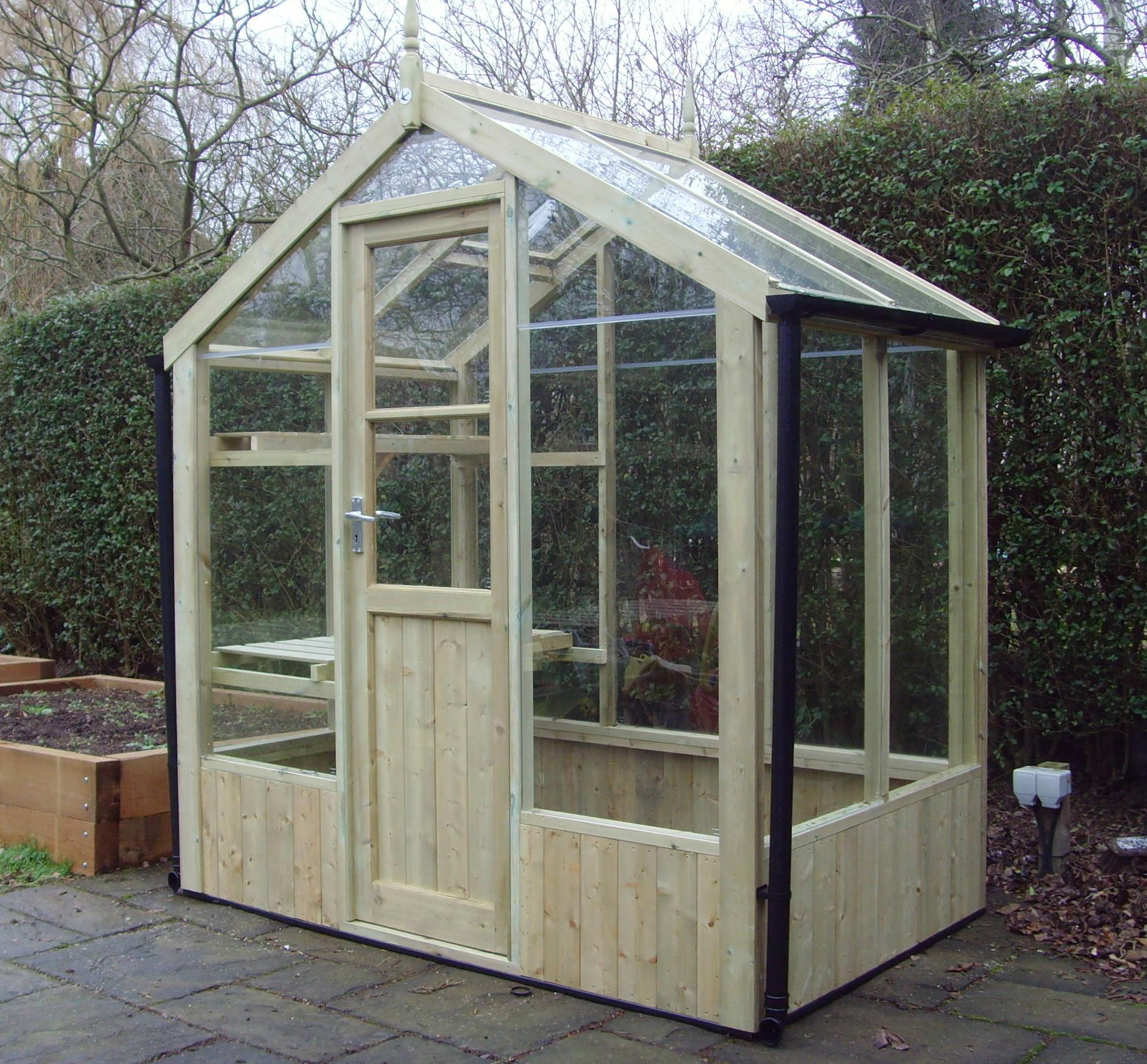 Swallow 64 greenhouse for Small wooden greenhouse plans
