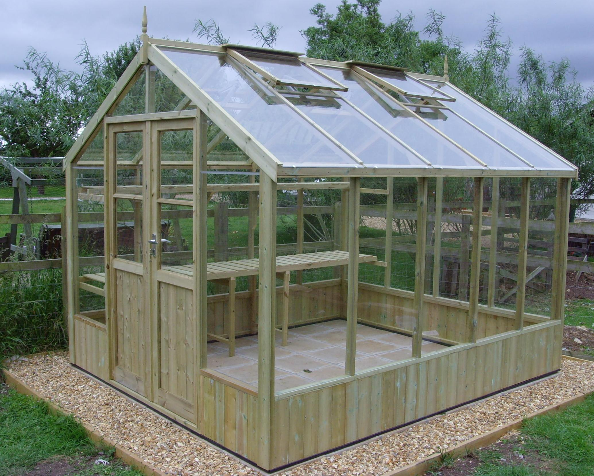Swallow 8ft Wide 10ft Olive Green Greenhouse