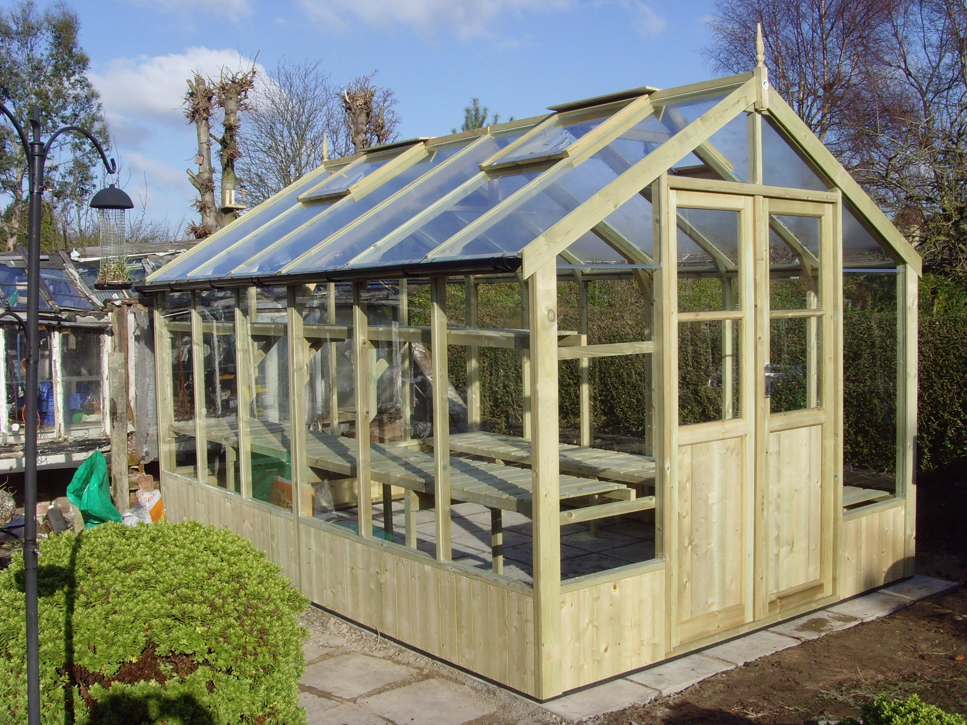 Swallow 8ft wide 12ft long greenhouse for Greenhouse lumber
