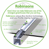 Robinsons unique glazing bar and PVC capping system, in Anthracite