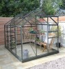 Simplicity Classic, in Old Cottage Green 6x8 greenhouse **Professional package**