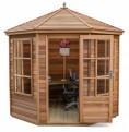 Tetbury 8x8 Plus Summerhouse (Cedar Slatted Roof)