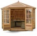 Broadwell 10x10 Plus Summerhouse (Cedar Slatted Roof)