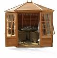 Mickleton 8x9 Plus Summerhouse (Cedar Slatted Roof)