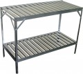 Aluminium slatted 2 Tier 20in wide 71in long