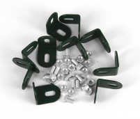PACK OF 10 *GREEN* L SHAPED BRACKETS WITH CROP HEADED BOLTS