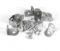 PACK OF 10 L SHAPED BRACKETS WITH CROP HEADED BOLTS