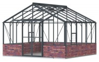 Regal 12ft7 x 12ft8  Anthracite *DWARF WALL**