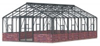 Renown 14ft8 x 26ft Anthracite  **DWARF WALL**
