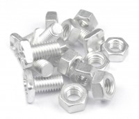 25 x 10mm nuts and bolts