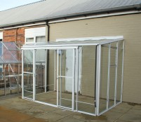 Radstock Lean-To 6ft5 x 10ft8 White ex display