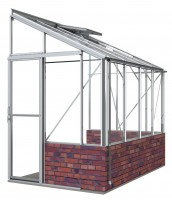 Lean-To 5ft4 x 8ft8 White **DWARF WALL**