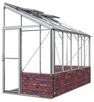 Lean-To 5ft4 x 10ft8 Mill **DWARF WALL**