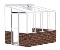 Lean-To 6ft5 x 8ft8 White **DWARF WALL**