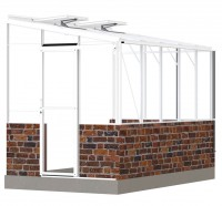 Lean-To 6ft5 x 10ft8 white **DWARF WALL**