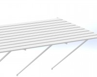 "Slatted Staging 37"" x 4ft White"