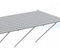"""Slatted staging 37"""" x 20ft Plain Aluminum"""