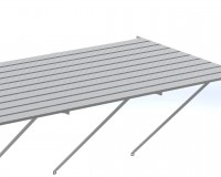 "Slatted staging 37"" x 22ft Plain Aluminum"