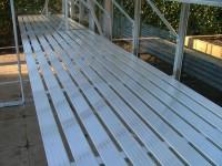 """Slatted staging 37"""" x 31ft Plain Aluminium"""