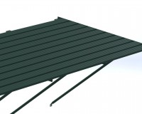 "Slatted Staging 35"" x 24ft Green"